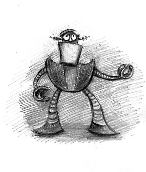 Robot sketch 7 by Jo Cave  (cavecorner)