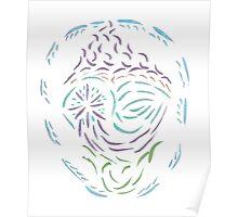 Comet Mandala Poster