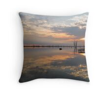 Sunrise Clouds and Reflections Throw Pillow