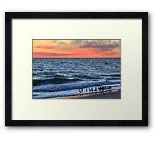 Willets and Sundown Surf Framed Print