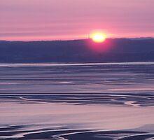 Sunset over Llanfairfechan by Michael Haslam