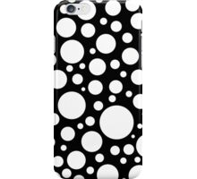 Modern Black and White Polka Dot Pattern iPhone Case/Skin