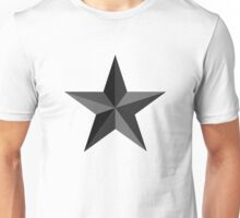 Star in Black and Grey Unisex T-Shirt