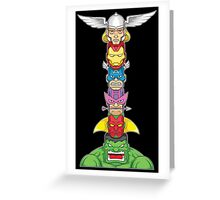 AVENGERS TOTEM Greeting Card