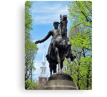 Paul Revere with Old North Church, Boston Canvas Print