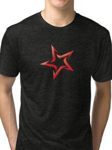 Red Star Sign Tri-blend T-Shirt