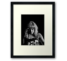 Seeing the song in her mind Framed Print