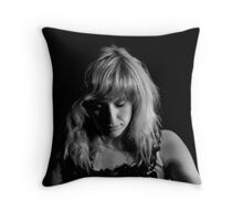Seeing the song in her mind Throw Pillow