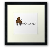 College is the Worst Framed Print