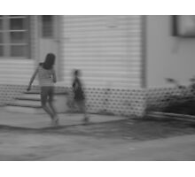 children at play ............. (Trailer Park america Series) Photographic Print