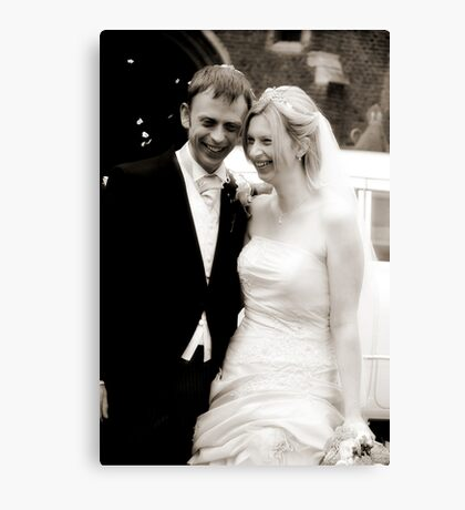 The Bride & Groom Canvas Print