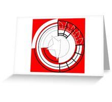 Stylised Prototype Shield Greeting Card