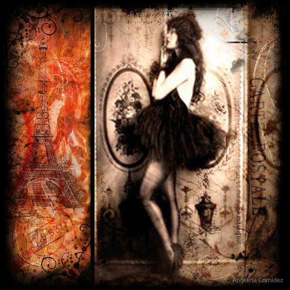 Vintage Collage 12 by Angelina Cornidez