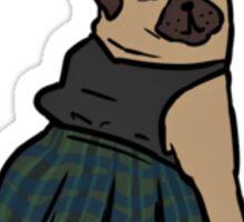 Riot Grrrl Pooch: Pug  Sticker