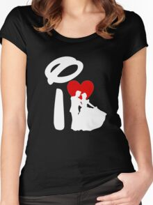 I Heart Happily Ever After (Inverted) Women's Fitted Scoop T-Shirt