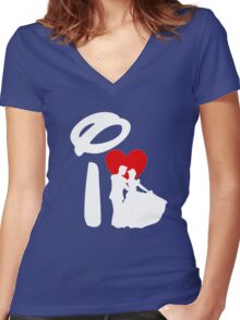 I Heart Happily Ever After (Inverted) Women's Fitted V-Neck T-Shirt