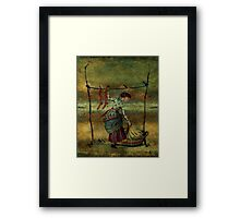 The Striped Stockings Framed Print