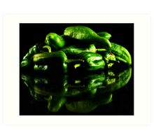 Hot Green Art Print