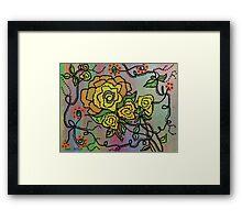 Beaded Roses... Framed Print