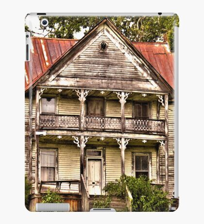 """ This is no Prefab Structure, Built the Old Fashioned Way""... prints and products iPad Case/Skin"