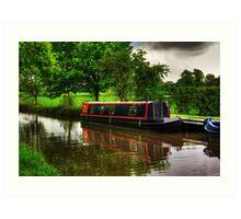 Canal Narrow Boat - Ripon Art Print