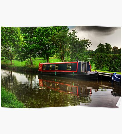 Canal Narrow Boat - Ripon Poster