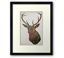 Deer With Quince Framed Print