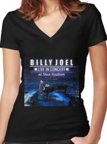 Billy Joel live in concert at shea stadium Women's Fitted V-Neck T-Shirt