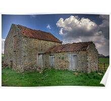 Old Barn - Lastingham North Yorkshire Poster