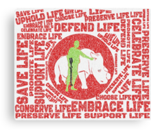 The Message Canvas Print