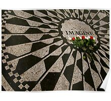 imagine - strawberry fields - NYC - Central Park  Poster