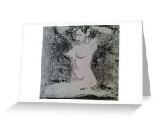 Charcoal figure study Greeting Card