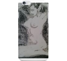Charcoal figure study iPhone Case/Skin
