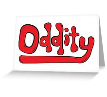 Oddity Logo Red (Lionmandesign) Greeting Card