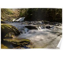 Falls Along Mill Brook - Rapids Below the Falls Poster