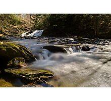 Falls Along Mill Brook - Rapids Below the Falls Photographic Print