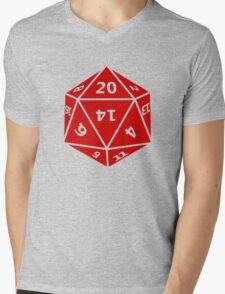 20 Sided Dice D20 Mens V-Neck T-Shirt