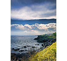 Nuvole sulla scogliera Photographic Print