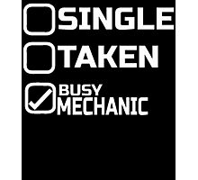 SINGLE TAKEN BUSY MECHANIC Photographic Print