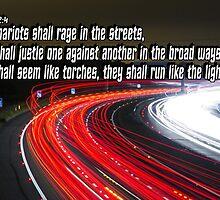 Nahum 2:4  Raging Chariots in the Broad Ways by Calgacus