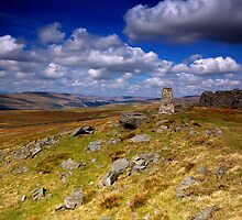 Looking North from Capplestone Trig by Andrew Leighton