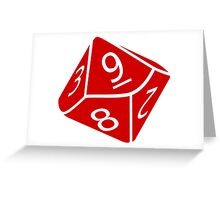 10 Sided Dice D10 Greeting Card