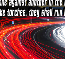 Nahum 2:4  Raging Chariots in the Broad Ways Sticker