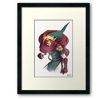 First Hero Link Portrait Framed Print