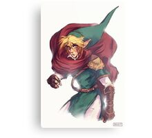First Hero Link Portrait Metal Print