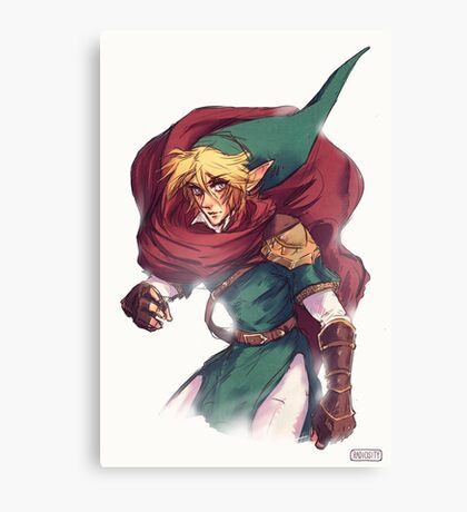 First Hero Link Portrait Canvas Print