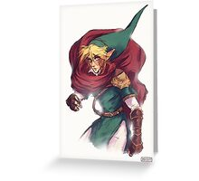 First Hero Link Portrait Greeting Card