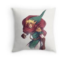 First Hero Link Portrait Throw Pillow