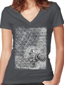 Dirt Bikin' 2 Women's Fitted V-Neck T-Shirt
