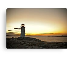 Peggy's Cove at Twilight Canvas Print